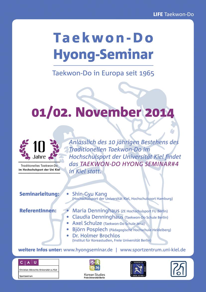 4. Taekwon-Do Hyong Seminar | 01. / 02. November 2014 | Kiel