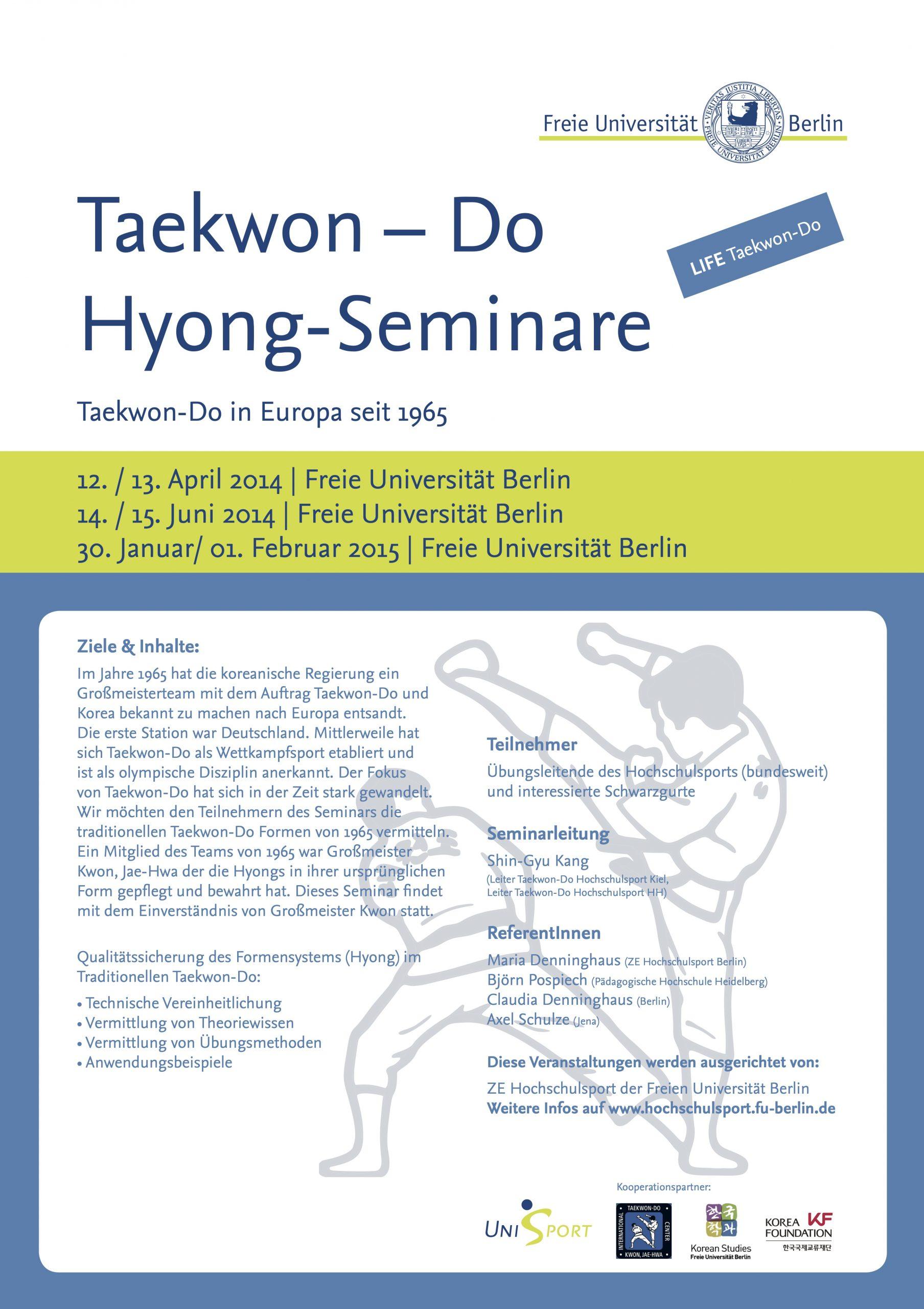 5. Taekwon-Do Hyong Seminar | 30. Januar / 01. Februar 2015 | Berlin